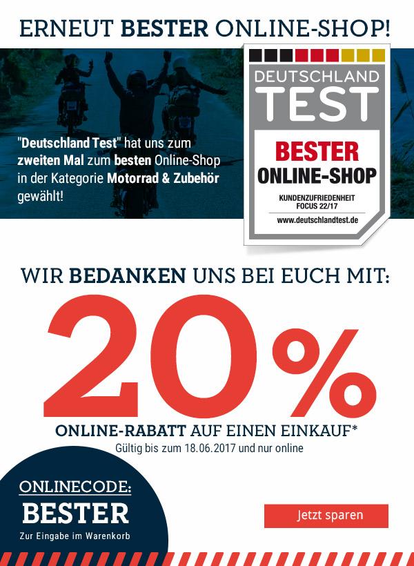20% auf Deinen Einkauf: wir sagen DANKE!