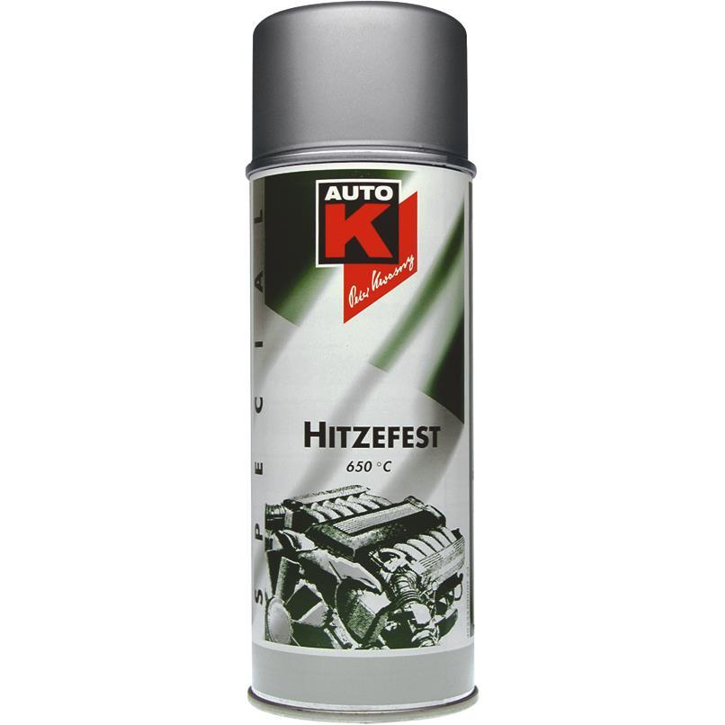 Image of AutoK Motor-/Auspufflack silber bis 650 °C 400 ml