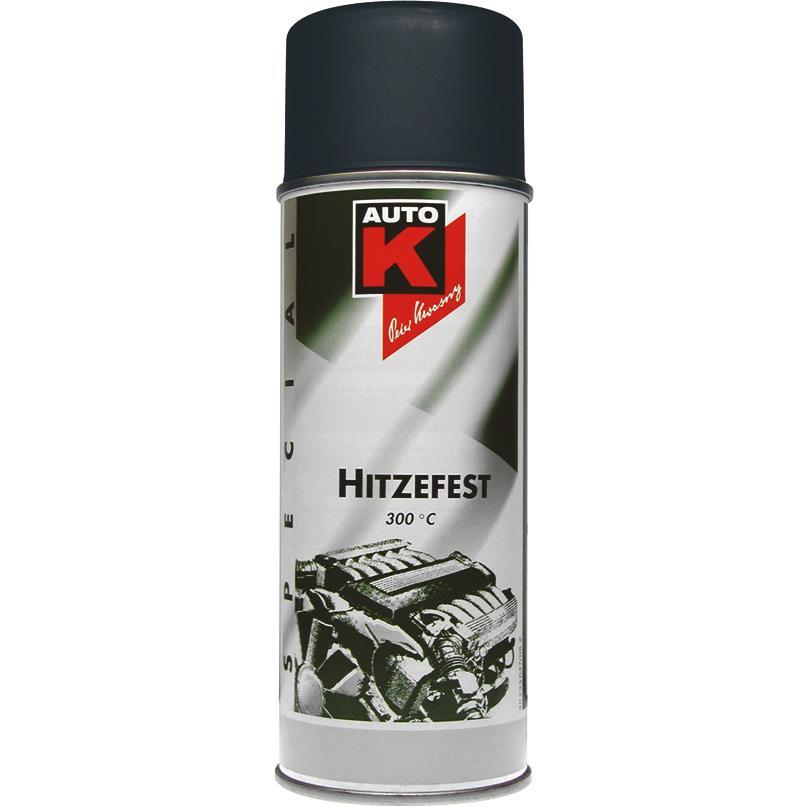 Image of AutoK Motorlack schwarz bis 300 °C 400 ml